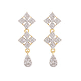AMERICAN DIAMOND NECKLACE SET WITH MATCHING EARRING FOR WOMEN