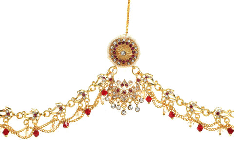 Indian Jewellery from Meira Jewellery:Rajasthani Jewellery,Rajputi Gold Plated Rakhdi With Multy Colored Latkan