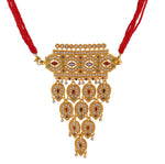 Rajasthani Rajputi Golden Aad with pear & marquise cut gems strand for Women
