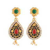 Indian Jewellery from Meira Jewellery:Necklace,PEARL SET WITH MATCHING EARRING FOR WOMEN