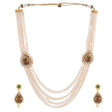 PEARL SET WITH MATCHING EARRING FOR WOMEN