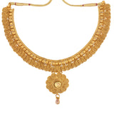 Indian Jewellery from Meira Jewellery:Necklace,KUNDAN NECKLACE SET WITH FILIGREE DESIGN & MATCHING EARRING FOR WOMEN