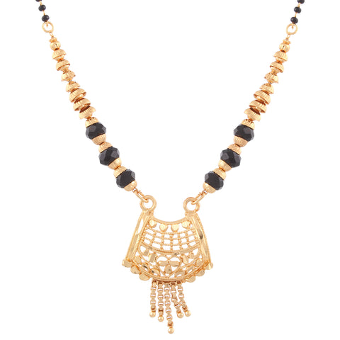 Gold Plated Traditional Design Mangalsutra with tassel