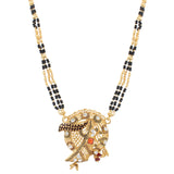 Indian Jewellery from Meira Jewellery:Mangalsutra,Gold Plated Grill Design Mangalsutra with tassel