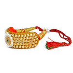 Royal Rajputi Gold plated white pearl beaded Punsi Pocchi Hand Bracelet