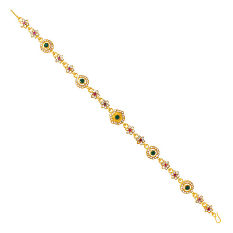 Ethnic Rajputi Rajasthani Mathapatti Kundan Pearl For Women