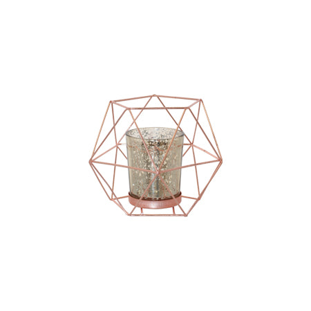 Decor Hire | Rose Gold Geometric T-light Holder| Flowers Direct | Gauteng