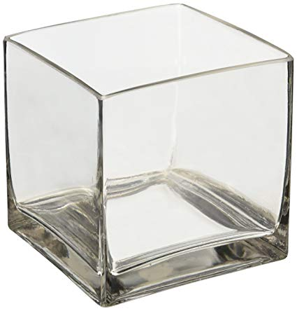 Decor Hire | Clear Glass Square Vase 15cm | Flowers Direct | Gauteng