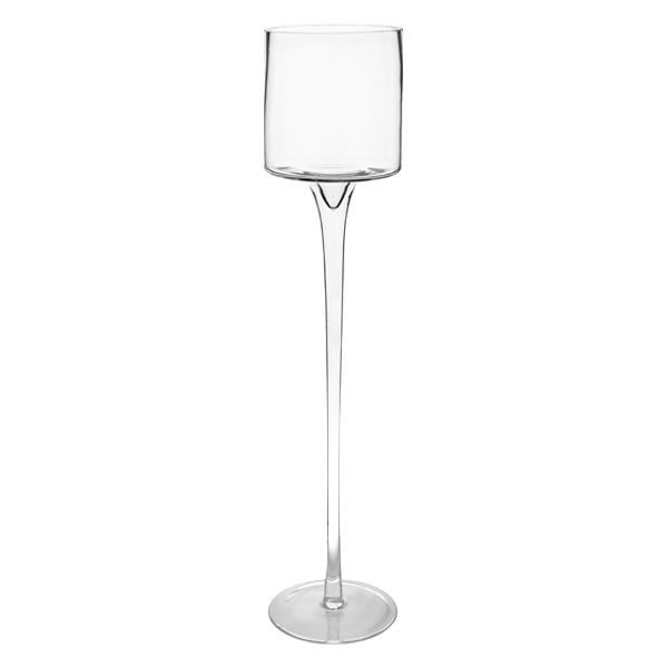 Decor Hire | Clear Glass Stemmed Candle holder | Flowers Direct | Gauteng