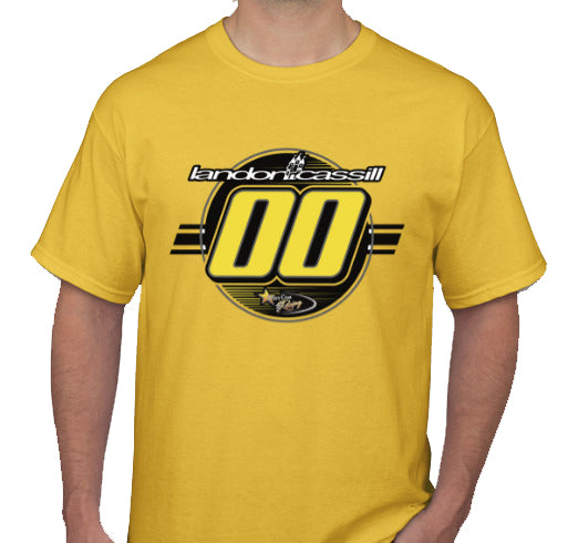 Landon Cassill T-Shirt Yellow 2019