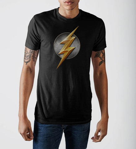 Justice League Flash Logo T-Shirt - GeekaPeek