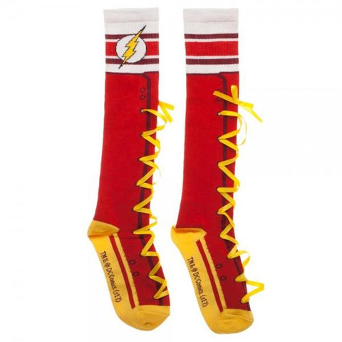 Flash Lace-Up Knee High Socks - GeekaPeek