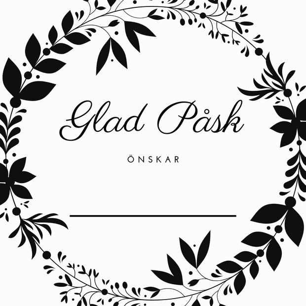 Glad Påsk 100x100mm