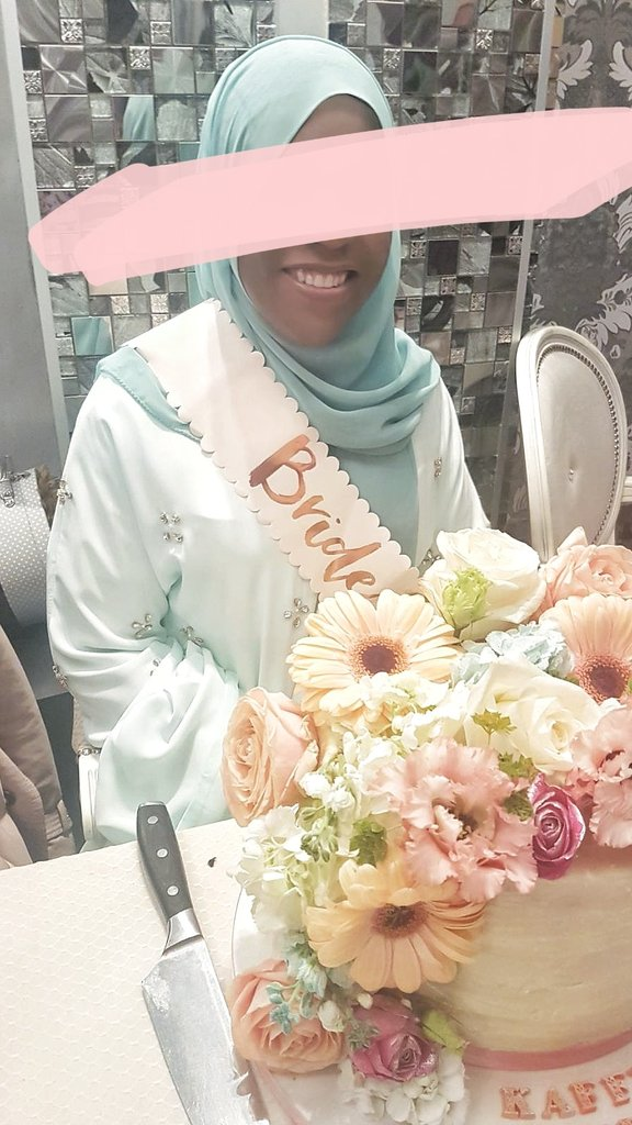 And the bride wore Barakah london! Well to her bridal shower