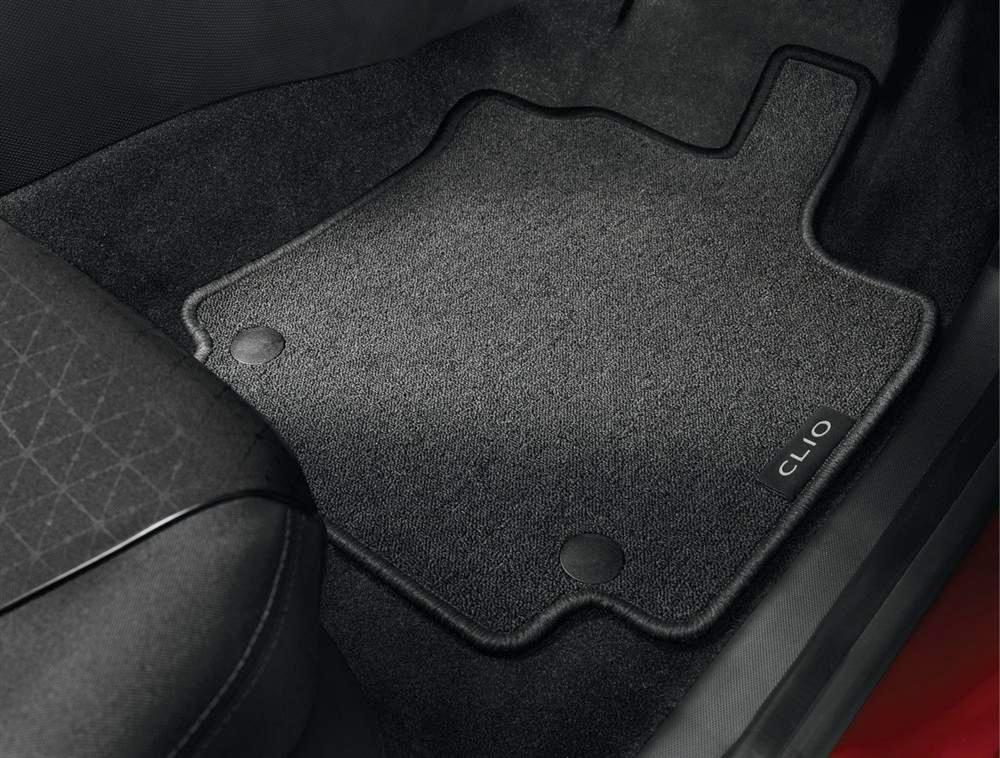 Renault Zoe 2012-on Fully Tailored Deluxe Car Mats in Black