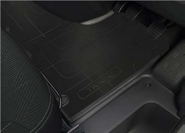 Renault Trafic III Rubber Floor Mats - 2nd Row