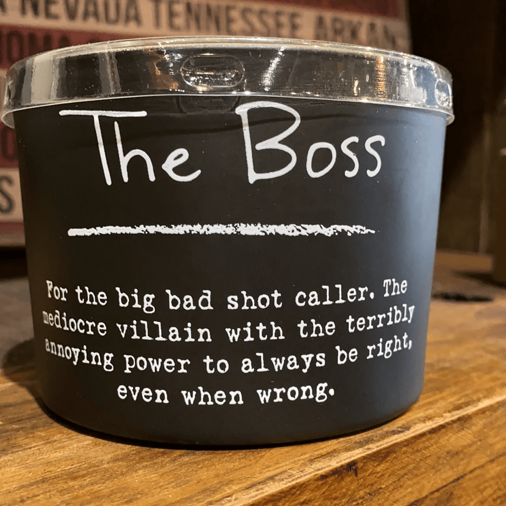 The boss candle Sassy Fox Boutique, Inc