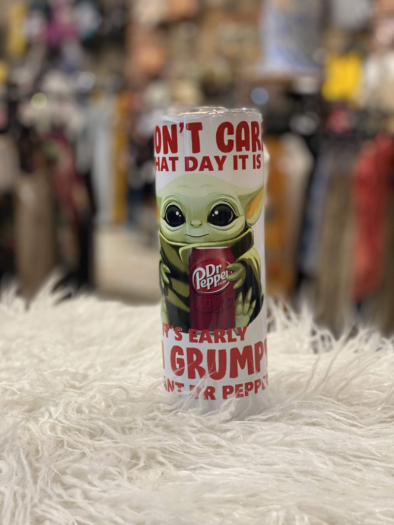 Tumbler Yoda!  Perfect for you or a Gift!! Yoda! Dr Pepper! Gift Sassy Fox Boutique