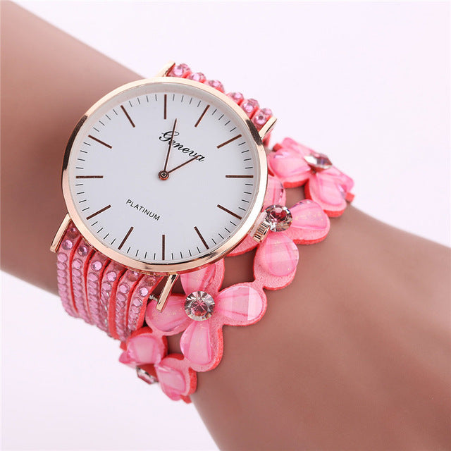 Crystal Embellished Ladies Watch