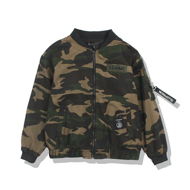 US Camo Bomber Jacket