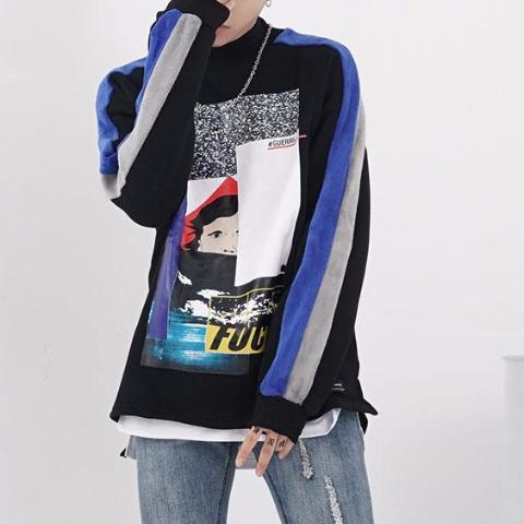 Multi Patched Sweatshirt