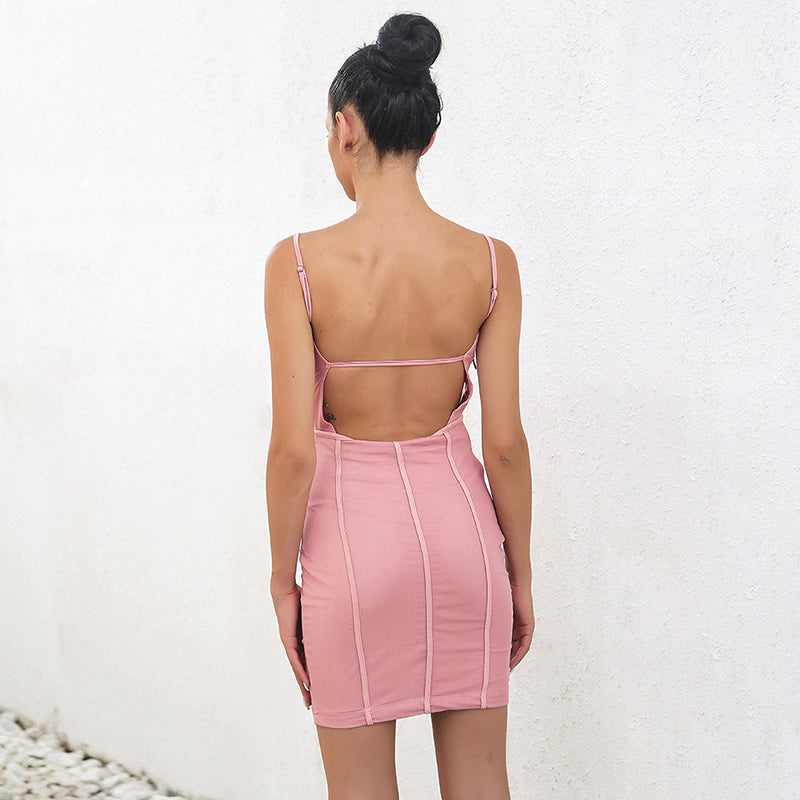 Strappy Pink Mini Dress