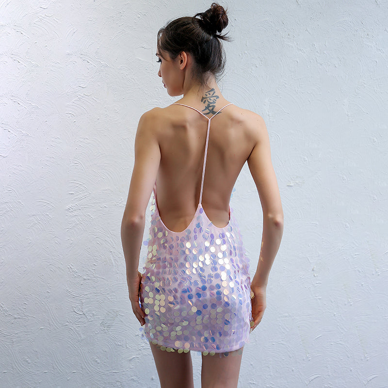 Holo Sequinned Dress