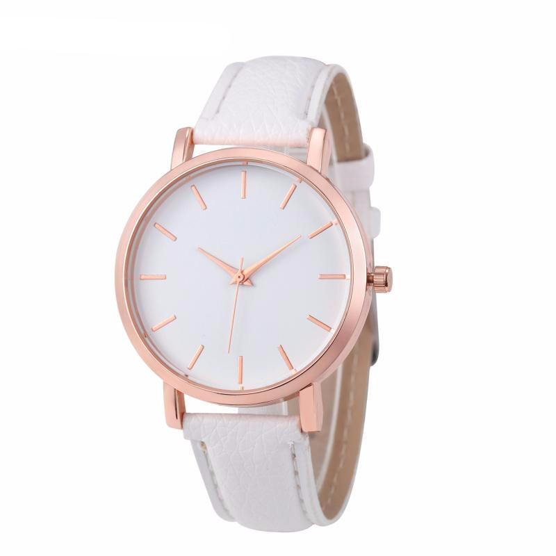 Rose Gold PU Watch