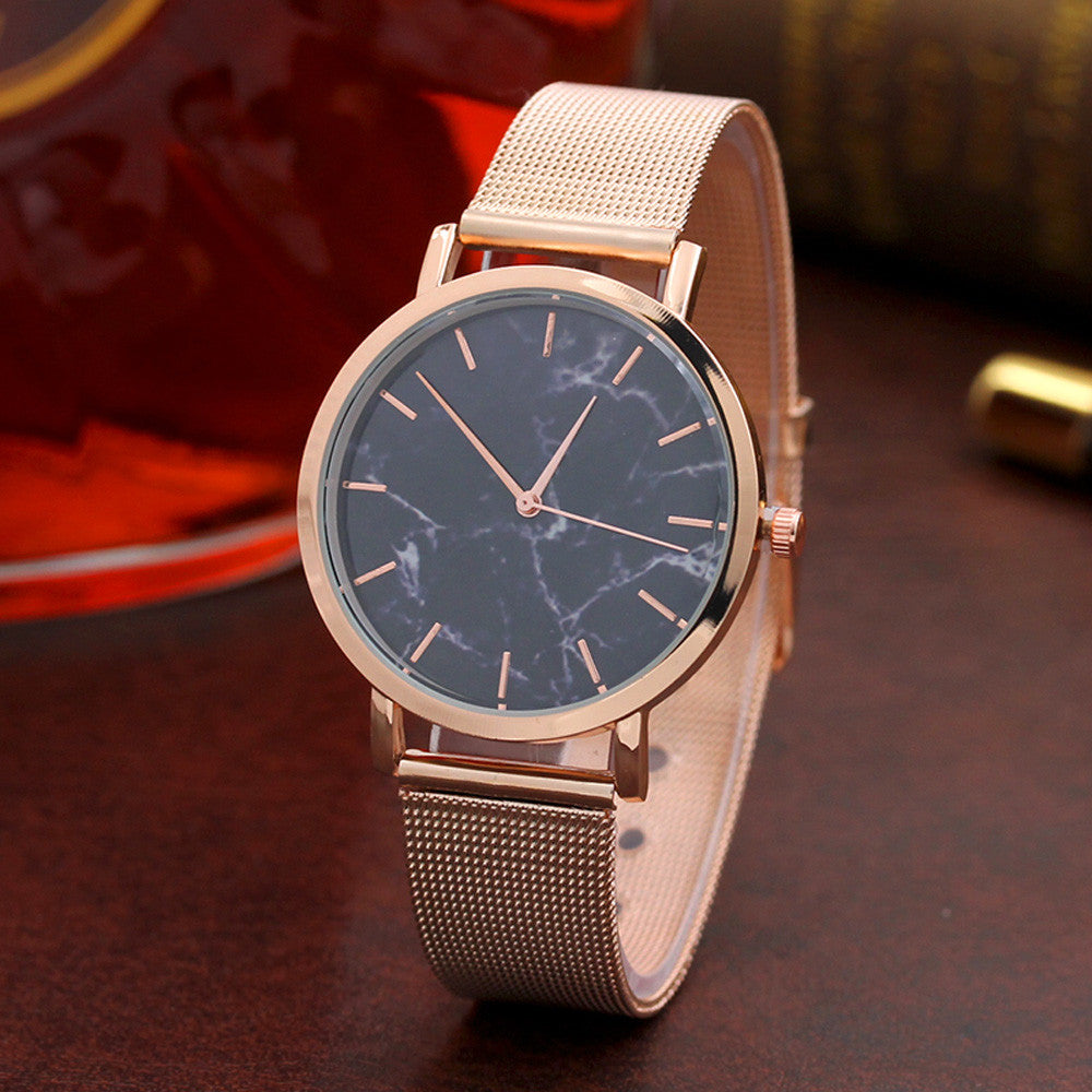 Woven Steel Ladies Watch