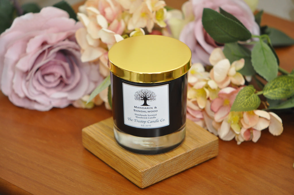 Luxury Black Glass Candle