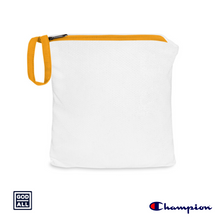 The God Over All Champion windbreaker, yellow windreaker, storage bag, storage pouch