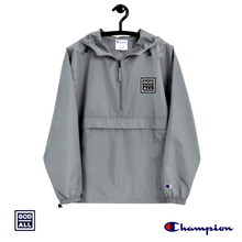 The God Over All Champion windbreaker, grey windbreaker, grey christian windbreaker, christian clothing, christian apprarel