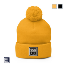 Yellow God Over All Pompom winter hat