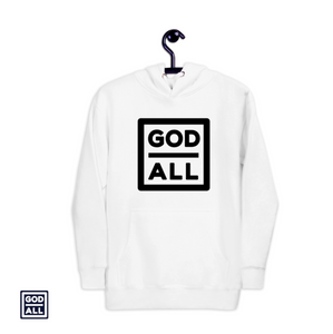 The God Over All Original, the god over all hoodie, christian hoodies, christian hoody, white christian hoodies, white christian hoody, unisex hoodies, unisex hoody