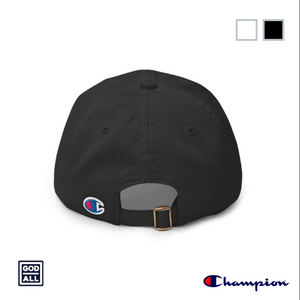 god over all champion dad hat base ball hat black