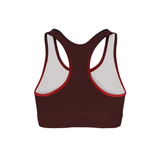 Averi J. Crimson Triangles Color Back Sports Bra
