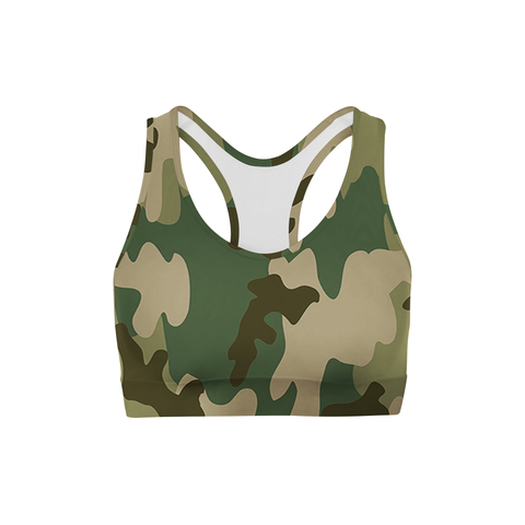 Averi J. Green Camo Sports Bra
