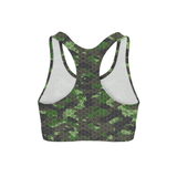 Averi J. Army Hex Camo Sports Bra