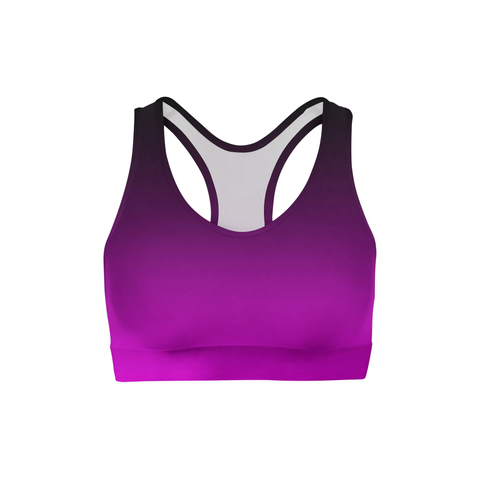 Averi J. Black Pink Ombre Sports Bra