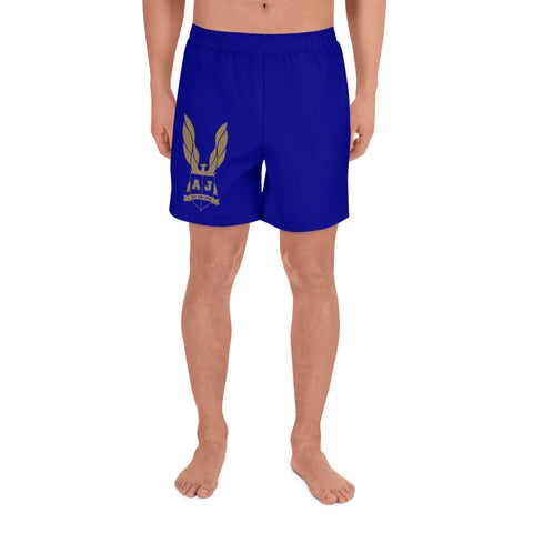 Averi J. Men's Athletic Long Shorts - Blue