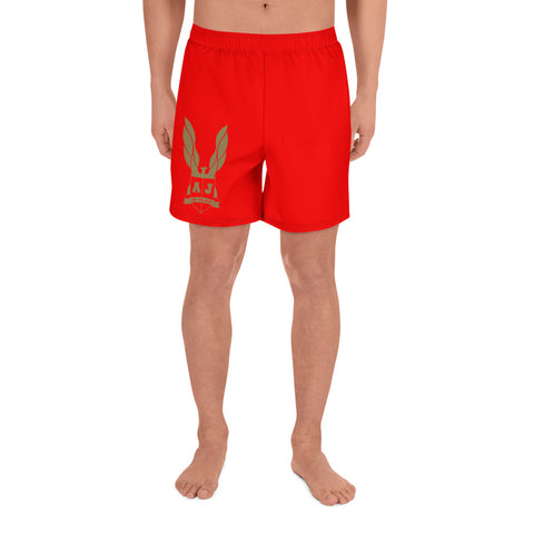 Averi J. Men's Athletic Long Shorts - RED