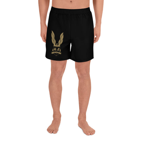 Averi J. Men's Athletic Long Shorts Black /w gold logo