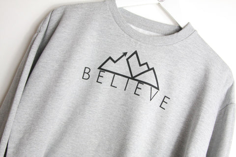 Believe Cropped Sweater *Good220 Collab*