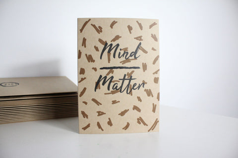 Mind Over Matter Greetings Card