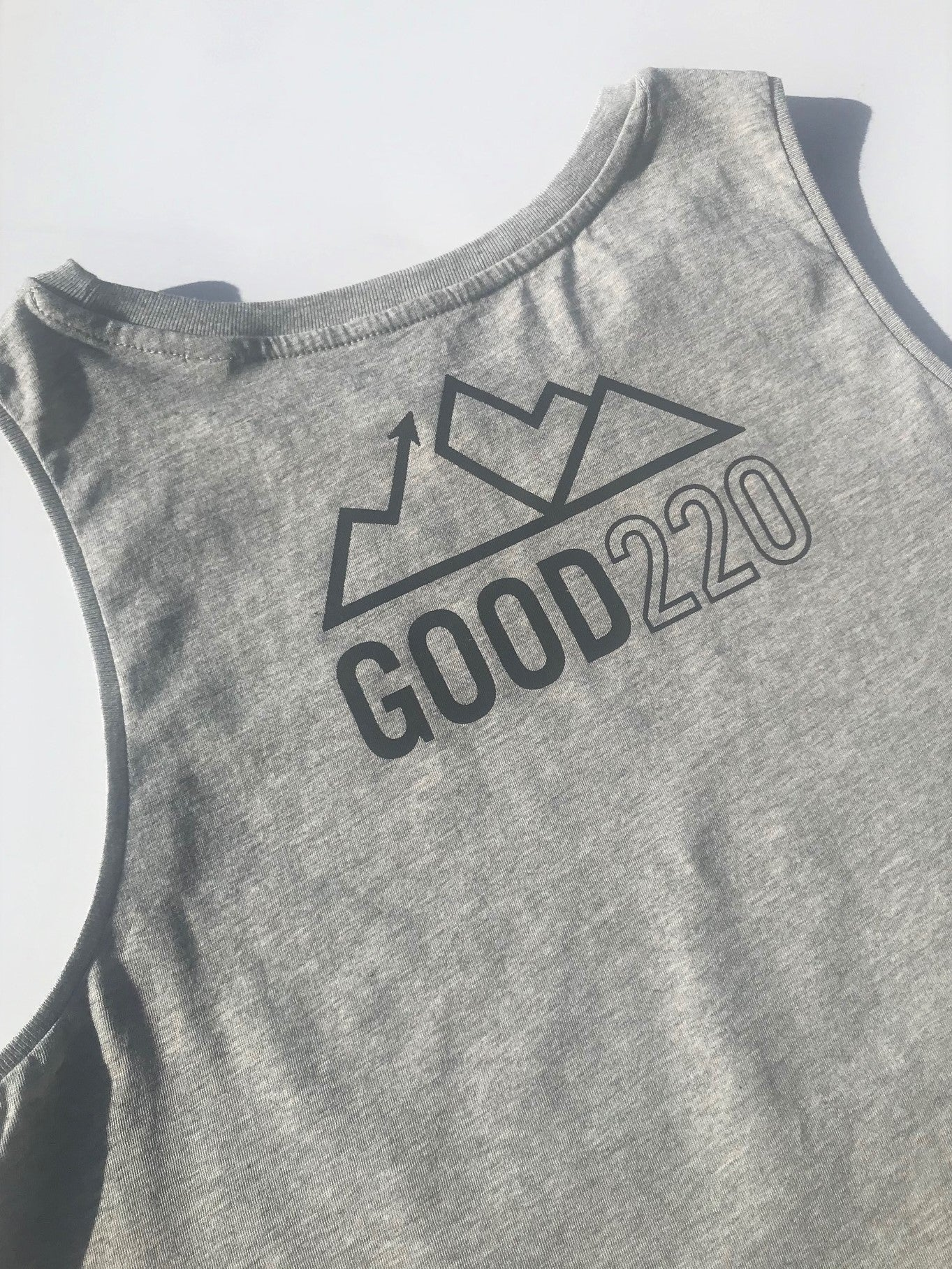 Never Give Up Crop vest *Good220 Collab*