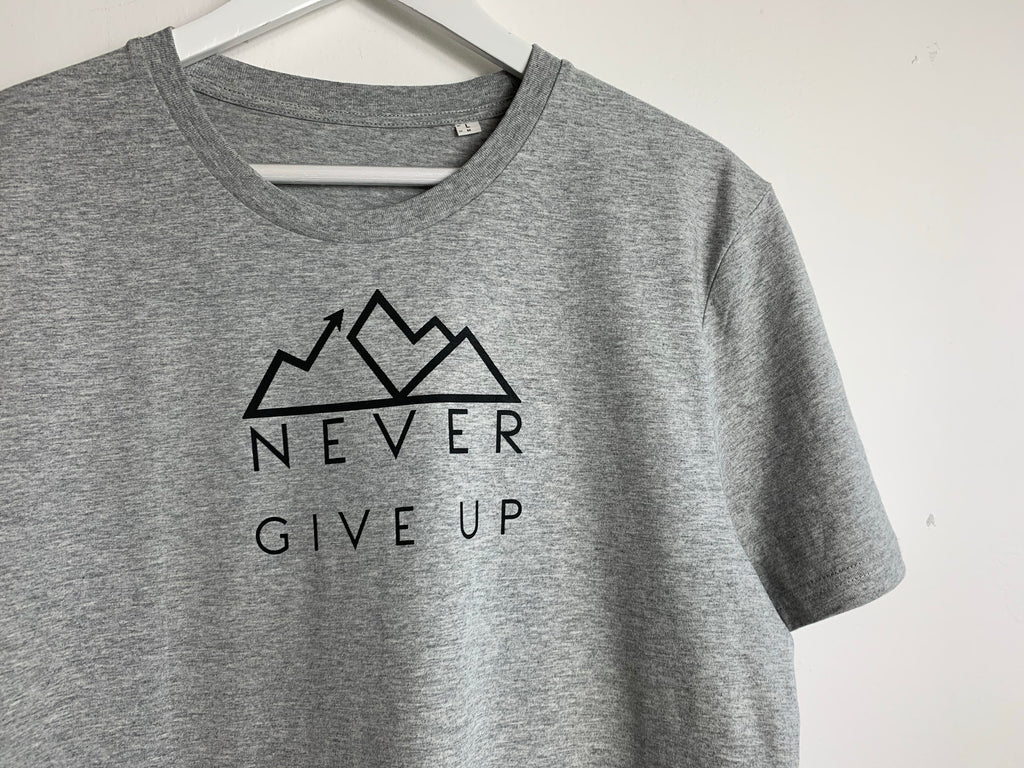 Never Give Up unisex tee *Good220 Collab*