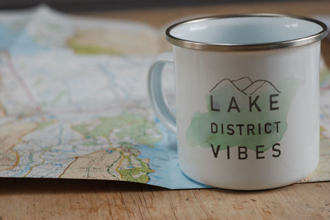 Lake District Vibes Enamel Mug