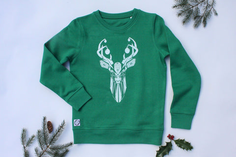 Kids Nordic Stag Sweater