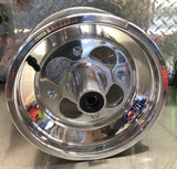"Billet front hub + 10"" wheel package"