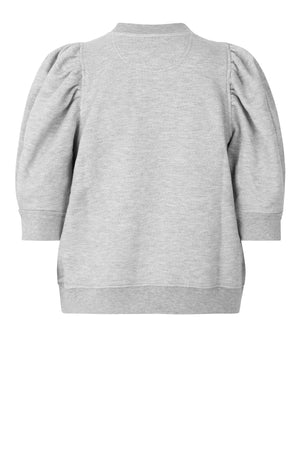 DAWNI SWEAT TEE - GREY MELANGE